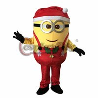 Wholesale Custom made Christmas Red Doubles Eyes Despicable Me Minion Mascot halloween Mascot Costume D0201