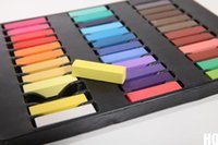 Wholesale New Color Non toxic Temporary Hair Chalk Dye Soft Pastel Salon Kit Show Party