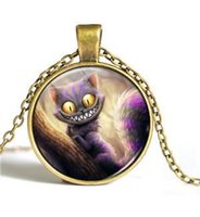 alice gems - Cheshire Cat Alice in Wonderland shorthair short necklace small fresh retro time gem necklace Y091
