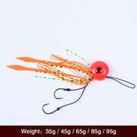 Wholesale New Arrival Explosion Hooks Fishing Tackles Jig Hooks Fishing Hook Set Carp Fishing Lead head hook with rubber jip Silicone Skirt