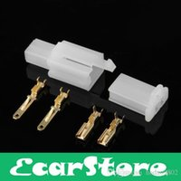 Wholesale 10 Sets Kit Pins Way Male Female Connector mm Terminal for Motorcycle Car ATV Scooter Boat
