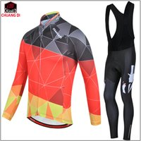 argyle pants - 2017 special Argyle winter fleece thermal cycling jersey and bib pants winter Cycling Clothing ciclismo maillot MTB W38