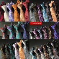 Wholesale 145 styles Fashion cm Mens Tie Neckties Silk Fashion Classic Handmade Wedding High Quality Paisley Stripes Plaids Dots DHL