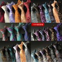 Wholesale Hot Sale styles cm Mens Ties Silk Fashion Classic Neckties Handmade Wedding Ties High Quality Paisley Stripes Plaids Dots Business Ties