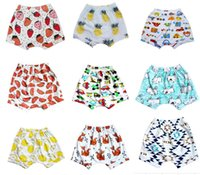 Wholesale 15 STYLE INS cartoon fox Winnie the Pooh infant cotton shorts summer baby casual elastic Harlan beach shorts boy clothes Plaid E268