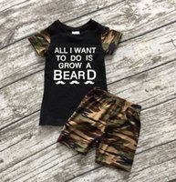 baby grow - baby clothes new boy sets black camouflage quot grow a beard quot boutique shorts outfit cute summer clothes ningbo baby kids wear firm