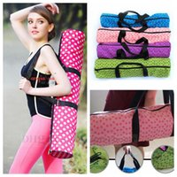 Wholesale Yoga Mat Bag Foldable Yoga Mat Shoulder Bag Carry Strap Drawstring Sport Gym Fitness Backpack Yoga Mat Carrier Tote Exercise Bag Pouch B839