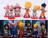 Wholesale 6pcs Dragon ball Z Action Figures Budokai Son Goku Gohan Vegeta Dragonball PVC Model Toy Japanese Anime Figure Dragon Ball Kai