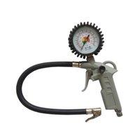 air gun oil - Truck Motorcycle Bike Auto Handheld Tyre Tire Inflator Gun Chuck Air Pressure Gauge Oil Filled Gauge Grey