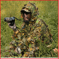 archery suit - set New Camo D Leaf Yowie Ghillie Sniper Paintball Archery Bowhunting Hunting Suits