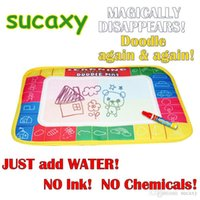 Wholesale 2015 NEW x10cm Baby Kid Water Drawing Mat with Magic Pen Aqua Doodle Child Painting Learning Water Drawing Doodle Mat