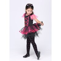 baby kitty halloween costumes - Halloween Girls Kitty Costumes Children Cat Girl Cosplay Fancy Ball Pink Lace up Tulle Tutu Dresses Baby Kids Party Dancing Dresses DHL free