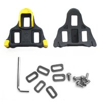 Wholesale NEW Self locking Cycling Pedal Bike Bicycle Cleat For Shimano SM SH11 SPD L Bicycle Pedal Yellow Black Red Black