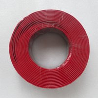 Wholesale m Roll RVB X1 mm2 Red Black Flexible Wire Pure Copper pin core Electrical Cable use for SOLAR LED Monitor