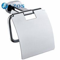 Wholesale AZOS Wall Mounted Toilet Paper Holders Bathroom Accessories Shower Hardware Components Chrome Polished Finish Silver Color GJKE3205 C