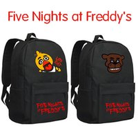 Wholesale Five Nights at Freddy s FNAF backpack schoolbag horror School Bags boy chica bear Backpacks christmas gift gifts hot sell