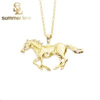 animal pendant necklaces - 2016 New Jewelry Fashion Horse Pendant Necklace For Women Silver Gold Plated Girl Mom Gifts