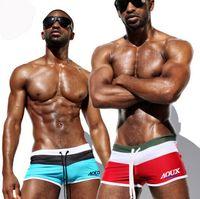 Wholesale New Men s Brand Swimming Trunks Sexy Swimwear Men Swim Shorts Beachwear Boxer Sea Beach Briefs L XL XXL