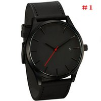 analog pack - Fashion Luxury Watches Brand MV Mens Women Watches Leather Strap Calendar Quartz Wristwatch Business Watches Gift Box Packing
