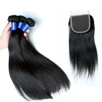 Wholesale 7a Straight Human Hair Weft Chinese Hair Weave Good Quality Human Hair Extensions Weaves Closure Natural Color Dyeable