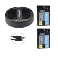 Wholesale KingMa LP E6 Li ion batteries LP E6 LPE6 Camera Rechargeable Battery pack USB Dual Charger For Canon EOS D2 D3 D D