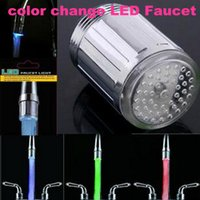 Wholesale Colorful LED Light lamp faucet colorful color light emitting hot kitchen basin mixer