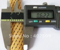 Wholesale Flat diameter mm meters roll whole sale Fire resistance PET braided sleeving Different color available braid sleeve