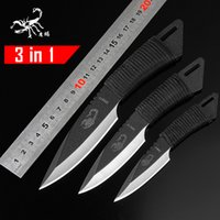 Wholesale in Pocket diving straight Knife Tactical Fixed Blade Knife Survival Outdoor Hunting Camping military knife Knives