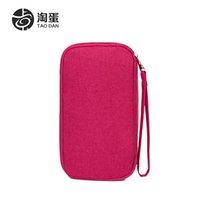 big red tickets - Korean Fashion Travel Passport bag multifunction purse big ticket clip certificate bag hand bag