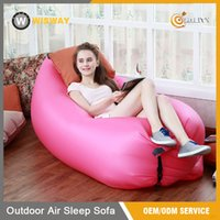 Wholesale Portable Waterproof Lazy Bag Lamzac bag Fast Inflatable Air Sofa Sleep bag lazybed In stock