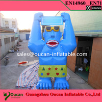 Wholesale m inflatable advertising cattle cartoon cow with air blower