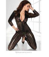 Wholesale sexy lingerie pu hollow vogue women zipper teddy pvc dress exotic Brand Sexy Lingerie Hot for Women Erotic Lingerie Bodysuit Open Crotch wit