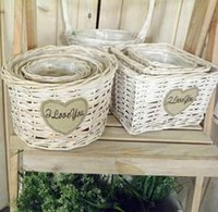 Wholesale Custom beautiful Wicker Basket Handwoven flowerpot