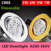 Wholesale 100PCS W W W W led dimmable DHL Ceiling light Epistar LED ceiling lights lamp Recessed Spot light V V