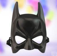 Wholesale Black Half face Batman Masks ballo in maschera Halloween Makeup Dance Mask Boys Toys