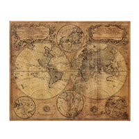 Wholesale Large Size Vintage Style Kraft Paper Retro World Map Poster x cm Matte Brown Paper Map Of The Globe Old World