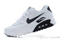 Wholesale 2016 air Max leather shoes what quality all black air Max Sport Running loafers shoes classic athletic shoes size