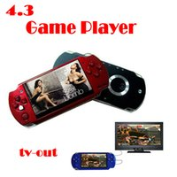 Wholesale by dhl or ems pieces GB Inch PMP Handheld Game Player MP3 MP4 MP5 Player Video FM Camera Portable Game Console