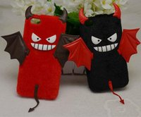 apples red devil - New Arrival Plush Furry Cartoon Cell Phone Case Fluffy Devil Demon Cell Phone Accessories Mobile Phone Case for Iphone6 Iphone6plus