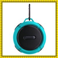 Cheap Outdoor Sports Shower Portable C6 Waterproof Speakers Wireless Bluetooth Speaker Suction Cup Handsfree MIC Voice Box For iphone VS S28 Mini