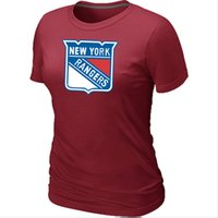 army ranger shirt - Cheap New York Rangers Women Hockey T Shirt Short Sleeve Fashion T shirt Cotton Rangers Tees Shirts Colors