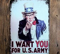art wanted - I want to you uncle Sam Creative posters cm decorative sheet metal painting decorative crafts and gifts