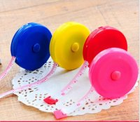 Wholesale 2015 Hot Style Retractable Ruler Tape Measure inch Sewing Cloth Dieting Tailor cm Color Randomly