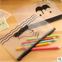 Wholesale Kawaii File Folder Cute Creative PVC Document bag Envelope to Receive Bag Chicken Translucent Folder Korea Stationery