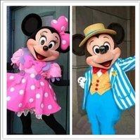 La buena calidad del ratón clásico Mickey y traje de la mascota del ratón de Minnie Mickey y Minnie traje de la mascota