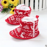 baby deer infant shoes - Christmas baby shoes Deer Knit Boys Snow Boots Winter Warm Infant First Shoes Fashion toddler Girls Boots Z035