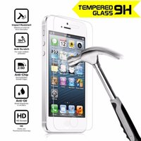 Wholesale Tempered Glass Screen Protector H mm For iphone S plus plus samsung galaxy s5 S6 S7 NOTE D mm Premium