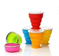 Wholesale 2016 Outdoor portable folding cup multi function creative cup the silicone portable folding The silicone folding cups DHL
