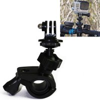 Wholesale Gopro Rotatable Bike Bicycle Handlebar Mount Holder Adapter Motorbike Clip Support Bracket for Gopro Hero SJCAM Xiaomi Yi