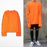 Wholesale 2017SS TOP VETEMENTS oversized Sweatshirts men women Hoodies oversize drooping shoulders men s tops KANYE WEST FOG SEASON